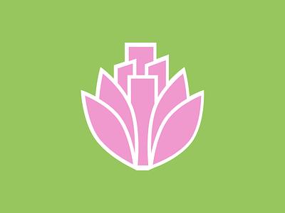 Lotusland logo illustration icon minimal flat vector branding design