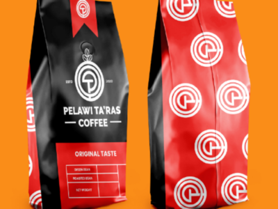 Packaging Logo Pelawi Ta'ras Coffee