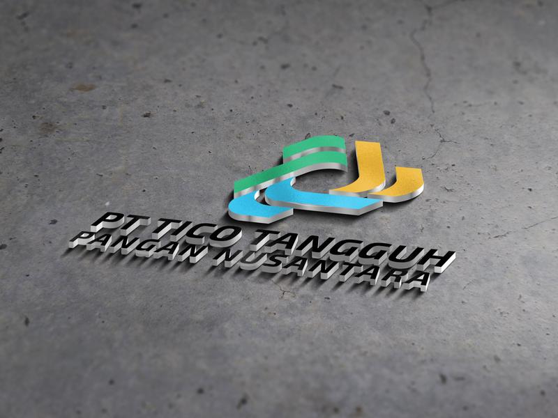 3D Logo Mockup | PT TICO TANGGUH PANGAN NUSANTARA logomark design logo graphic design logo inspiration inspiration minimalis wall mockup mockup modern branding logo logo design