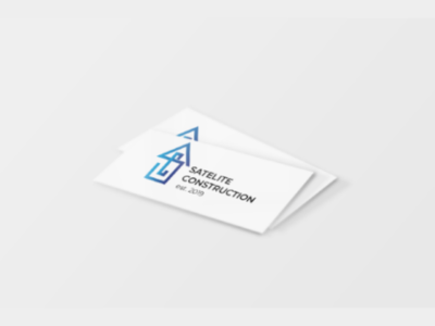 Business Card | Logo Satelite Construction