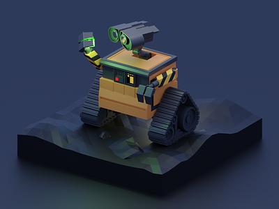WALL-E character pixar robot 3d blender walle