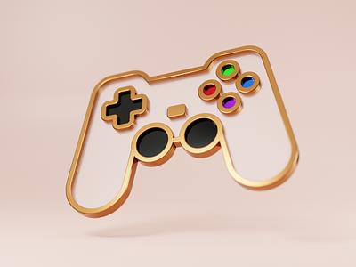 Pro gamer achievement illustration badge pin blender 3d