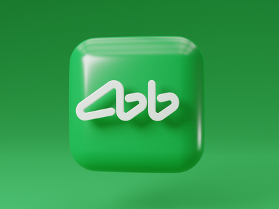 Banking app icon akbars kazan blender 3d
