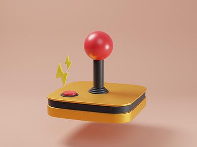 Joystick cartoon game blender illustration 3d