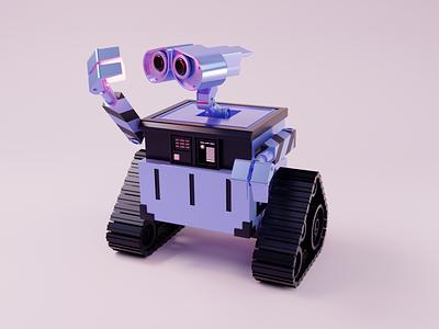 Wall-E robot pixar blender illustration 3d