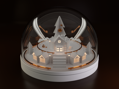 It's Christmas time! blender christmas snow night illustration 3d icon
