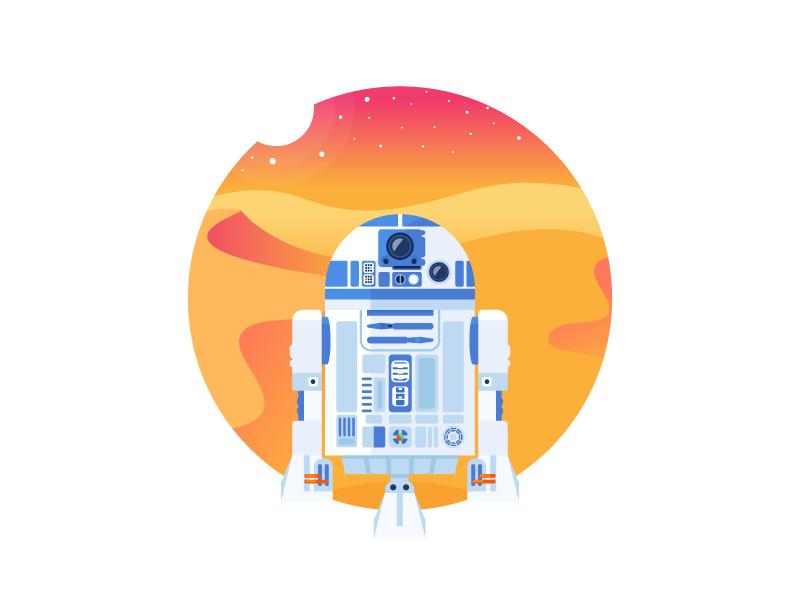 R2D2 everyday icon wars star