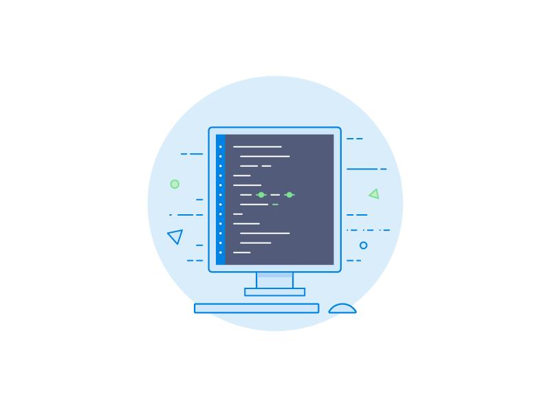 Code monitor everyday icon