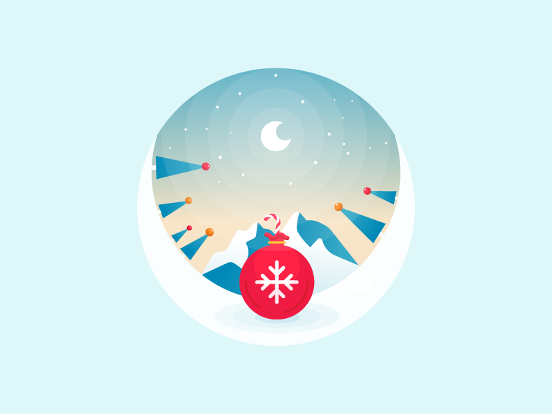 Your gifts are already prepared! year new everyday icon winter trees snow christmas