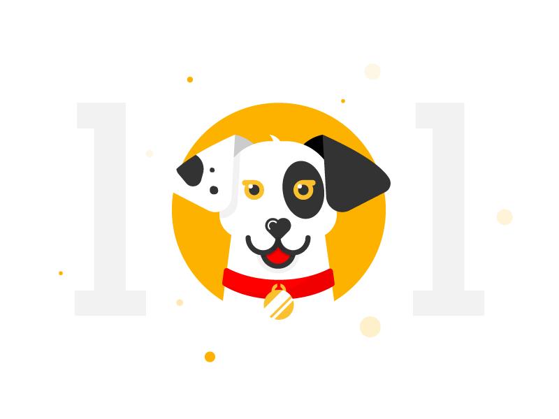 101 dalmatians dog everyday icon