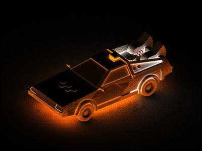 Delorean in progress car backtothefuture delorean render light 3d work in progress