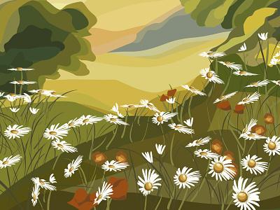 summer vector landscape landscape summer vector
