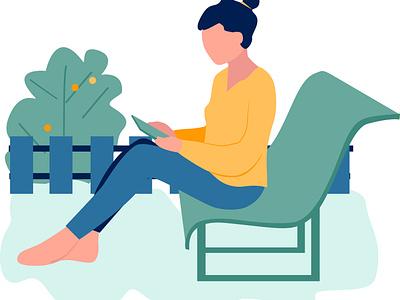 freelancer flat design illustration sketch vector