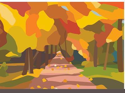 outumn leaves nature calendar flat design illustration vector