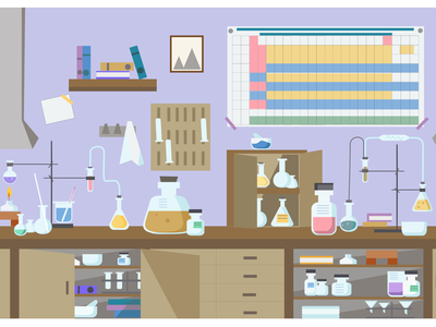 chemistry laboratory chemistry design sketch flat design illustration vector flat