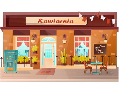 Cafe freedom belarus flat design cartoon sketch illustration vector