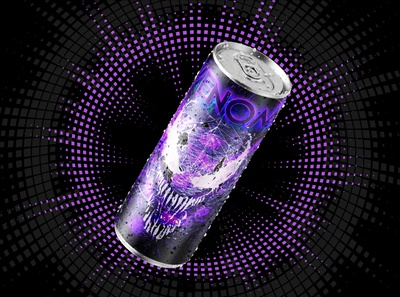 Venom Energy Drink cans soda beer energy can energy drink logo design photoshop branding
