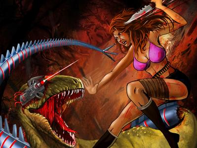 raptor vs girl