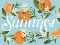 Summer Orange Lettering