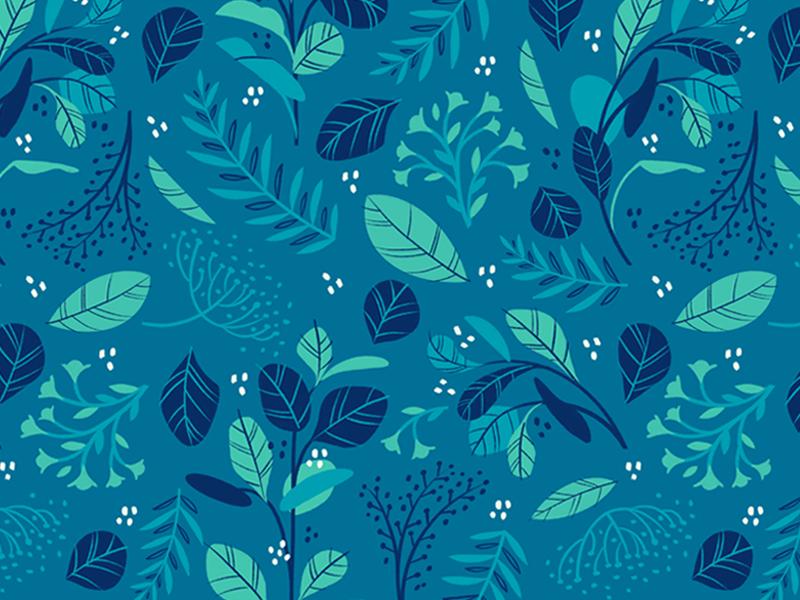 Eucalyptus pattern bluegreen leaf floral procreate digitalillustration leaves spring cool eucalyptus plants illustration patterndesign seamless pattern