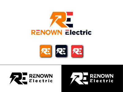 REKNOWN Electric - logo design concept clean logos type icon minimal illustration illustrator graphic design graphic branding brand identity brand design brand logo design design logo