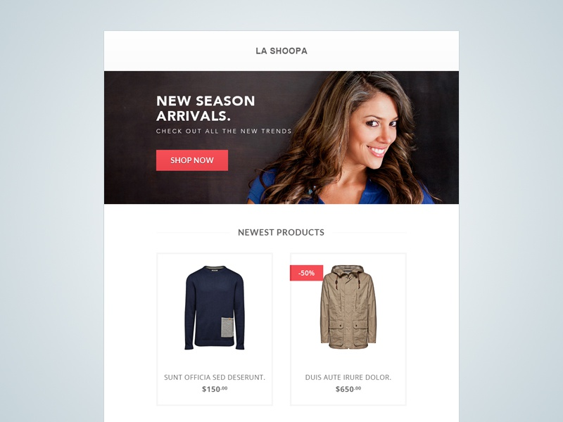 FREE Ecommerce Email Template ecommerce email template free email template tutorial