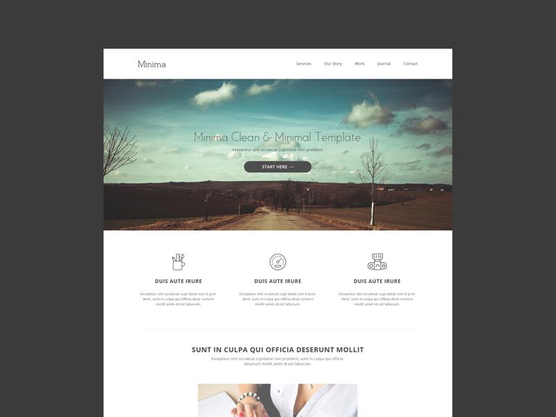 Freebie minima minimalist free html5 template by pixel hint dribbble shots maxwellsz