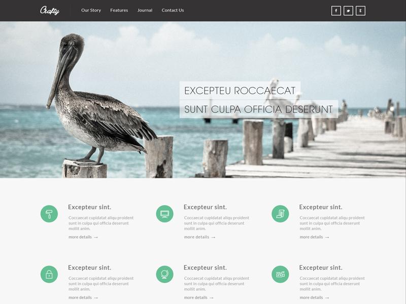 Freebie - Crafty Clean PSD Temaplte crafty free freebie resource web template template free template psd free psd