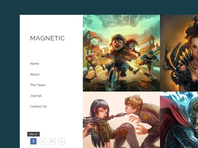 Magnetic Photography Template - Freebie