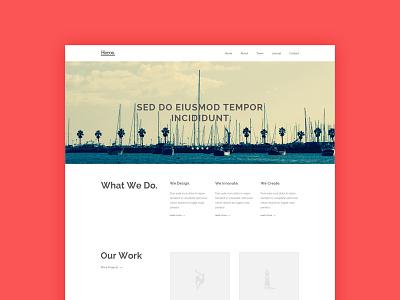Heros Agency Website - Freebie freebie html5 css3 tutorial web design ui design website template free