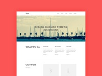 Heros Agency Website - Freebie