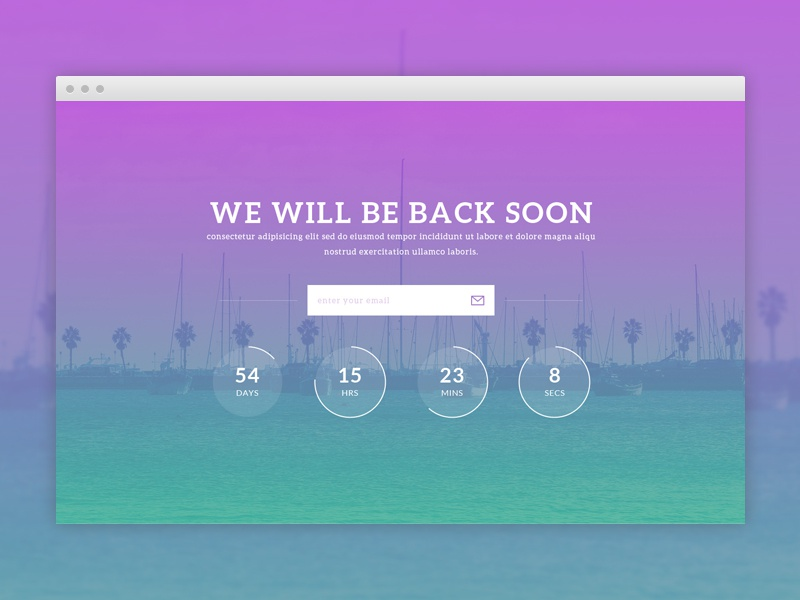coming soon website template freebie by pixel hint dribbble