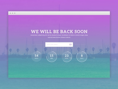 Coming Soon Website Template - Freebie coming soon under construction freebie html5 psd free
