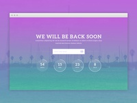 Coming Soon Website Template - Freebie