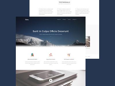Sublime Website Template - Freebie psd freebie template website webdesign ui clean free