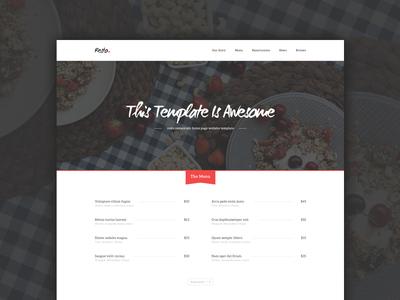 Resto Restaurant Home Page - Freebie