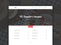 Resto Restaurant Home Page - Freebie