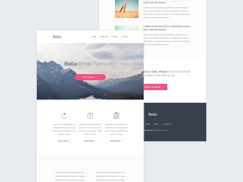 Html email template freebie by pixel hint dribbble shots maxwellsz