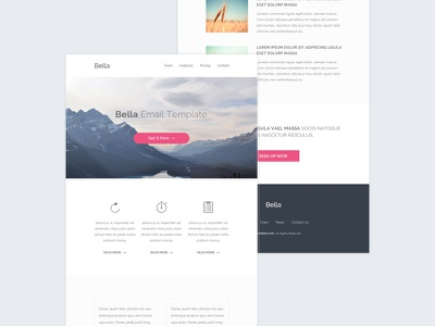 HTML Email Template - freebie email template html email psd freebie free clean blue pink modern
