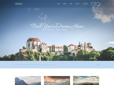 Real Estate Website real estate freebie free psd template