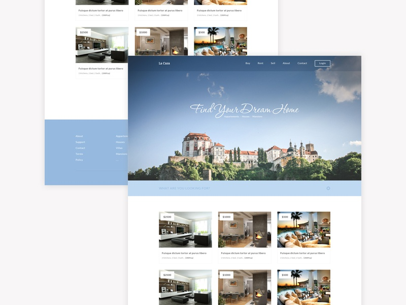 free responsive html5 css3 real estate home page template by pixel