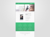 Bootstrap App Landing Page - Freebie