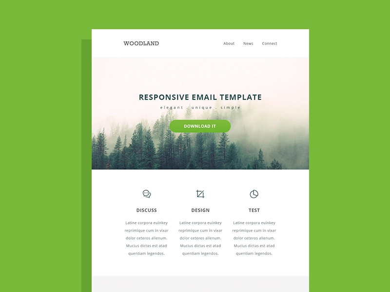 Responsive Html Email Template By Pixel Hint Dribbble Dribbble