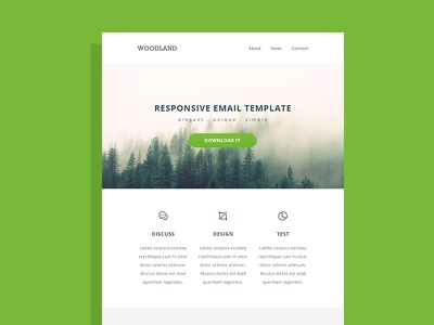 Responsive HTML Email Template responsive email template tutorial code html css minimal newsletter