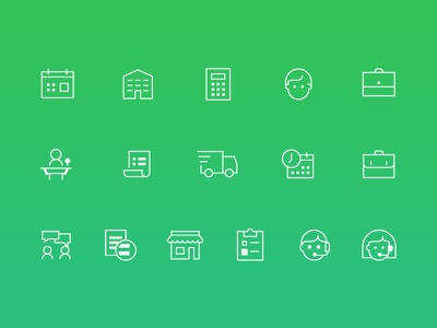 Free Icons minimal freebie free business startup green line icons icons