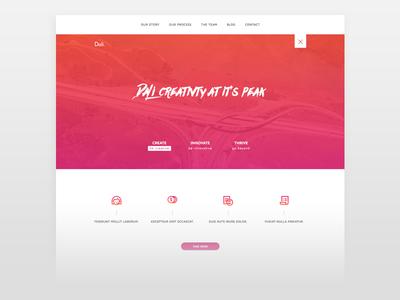 Dali Sketch App Website minimal design web design ui tutorial freebie sketch