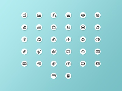 Finance icons line freebie free icons bills trading money finance