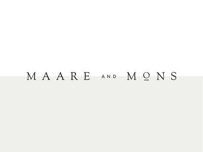 Maare and Mons logotype wordmark serif typography logo branding