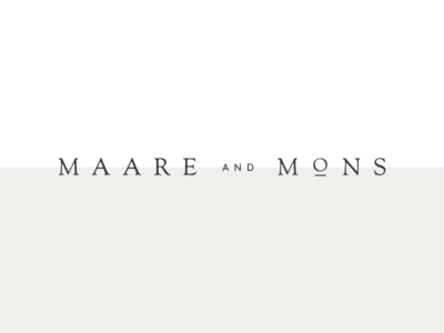 Maare and Mons logotype wordmark serif typography logo branding