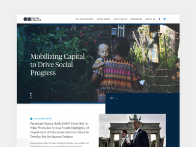 Social Finance Homepage Concept layout typography clean modern responsive web design website